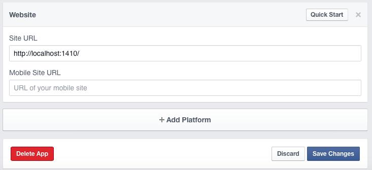 Facebook R add url