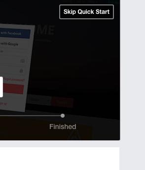 Facebook R skip quickstart